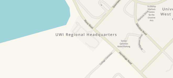 Map of UWI Regional Headquarters