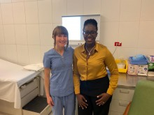Dr Kizanne James-McCarthy (L) and Alison Hathaway