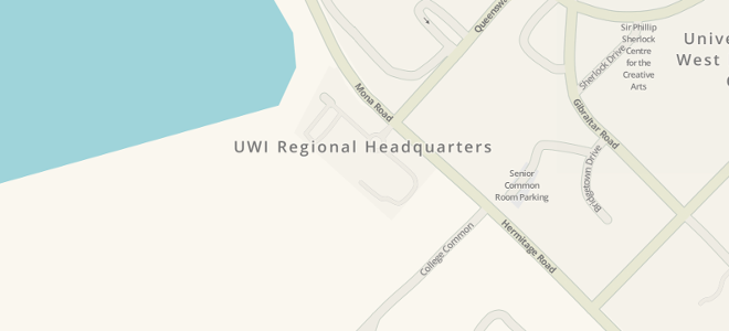 Map of UWI Regional Headquarters